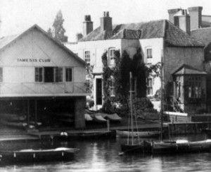 The first clubhouse at Burgoine's boat house