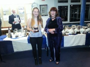 Trophy winner Rosalind Warwick Haller with Nicola Colley