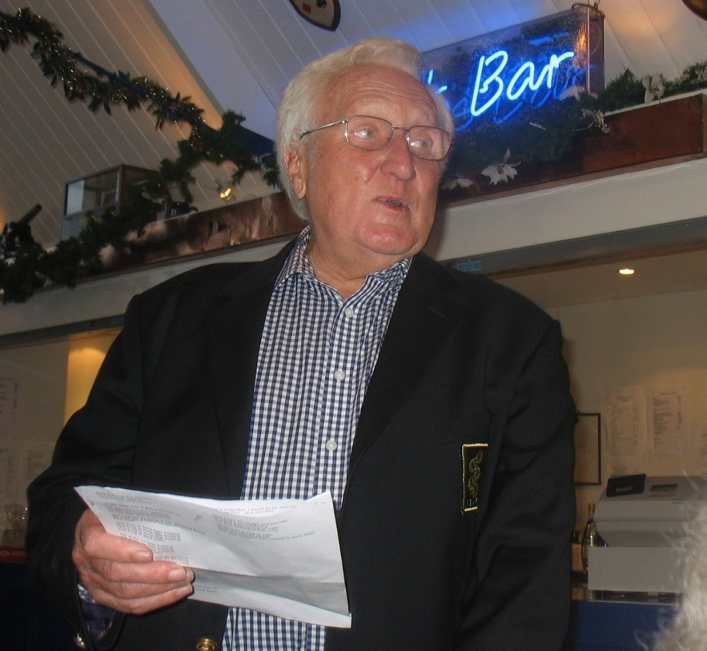 Brian Southcott leading the carol singing