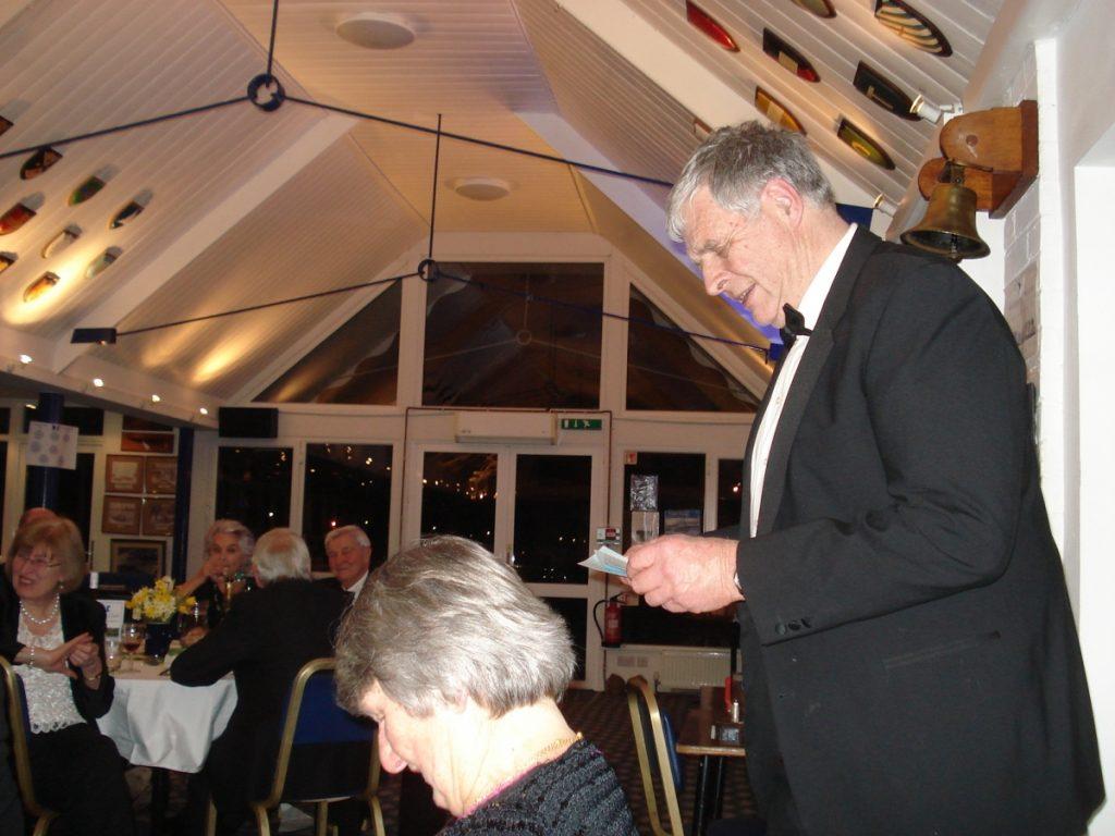 Martin Adams delivering his nominations for the  Sea Cock Trophy