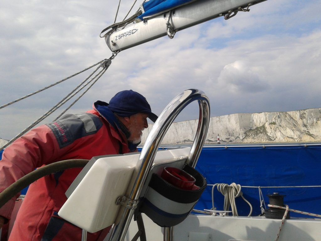 Tony at the helm