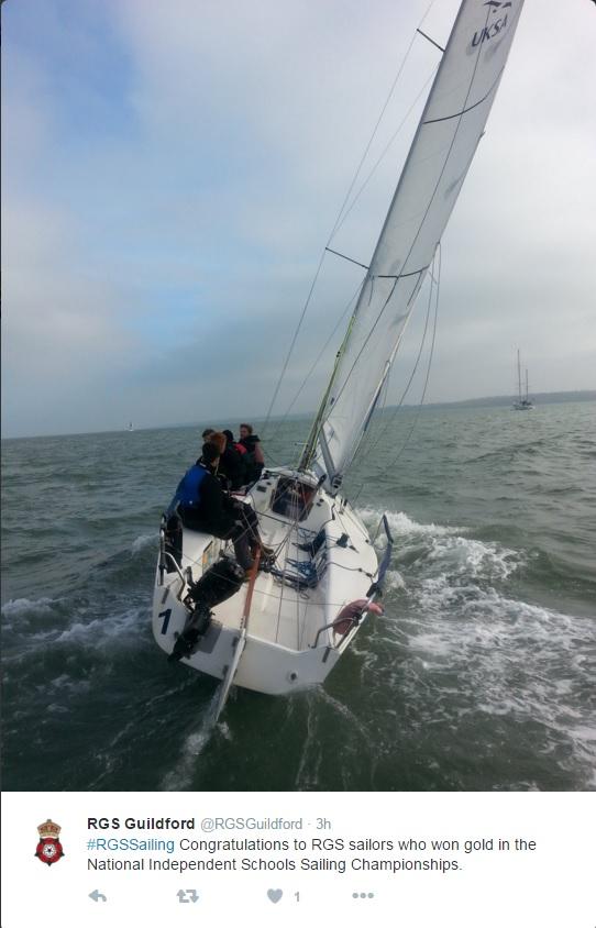 rgs keelboat sailing tweet